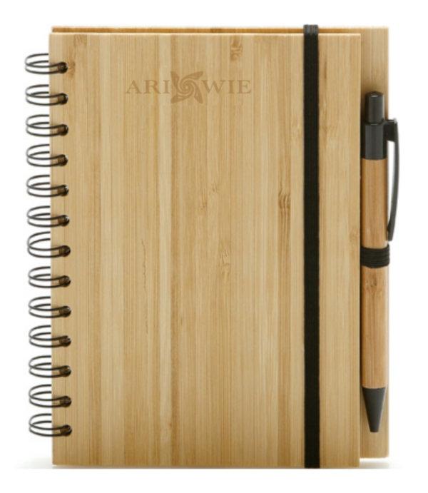 Notes z bambusową okładką 1