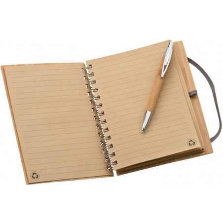 Notes z bambusową okładką 2