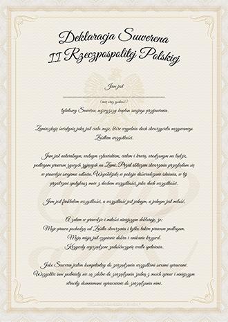 Deklaracja Suwerena II Rzeczpospolitej Polskiej